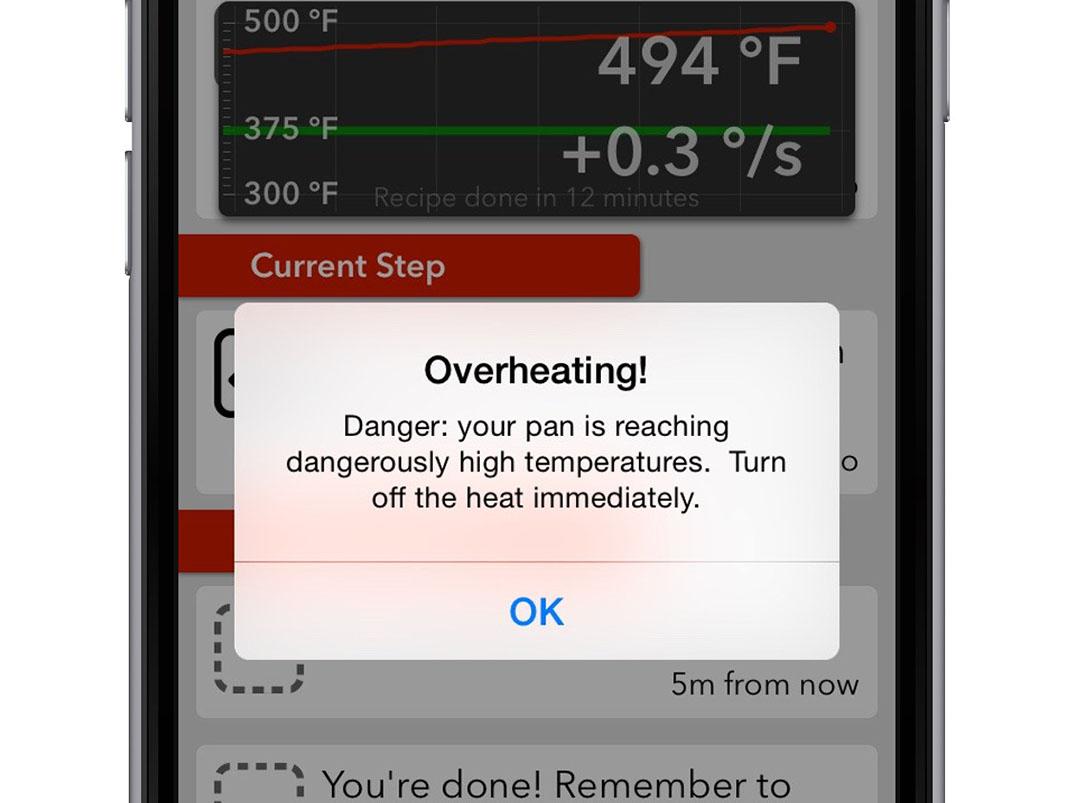 Une application qui prévient quand le plat risque de brûler