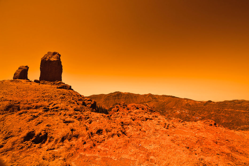La surface de Mars via Shutterstock