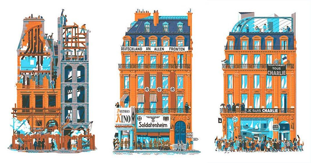 Vincent retrace les v nements qui ont fa onn l histoire for Architecture a paris