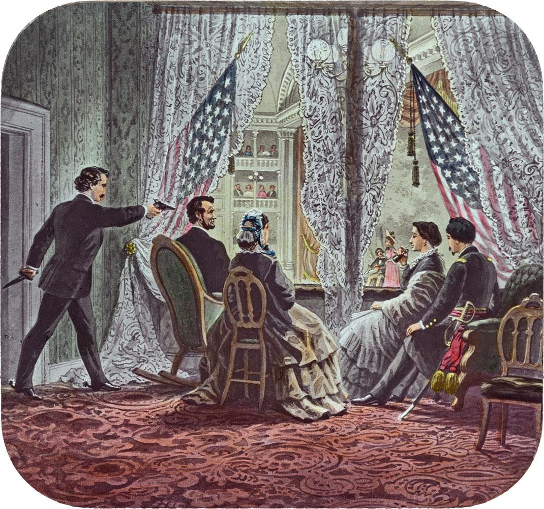 Représentation de l'assassinat d'Abraham Lincoln