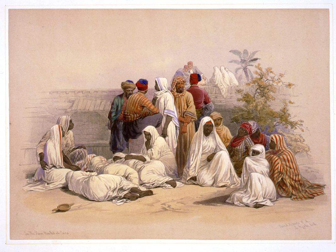 A_slave_market_in_Cairo-David_Roberts