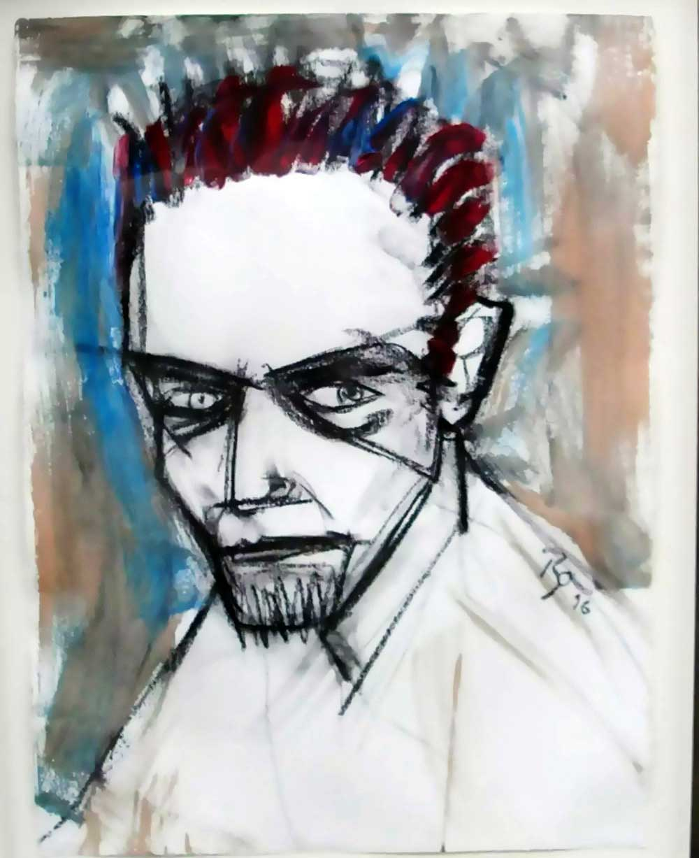 David-Bowie-paintings-selfportrait-1996