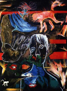 David-Bowie-peinture-Evol-for-the-Missing-1996