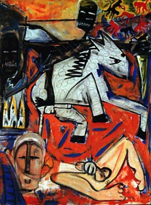David-Bowie-peinture-The-rape-of-Bigarschol-1996