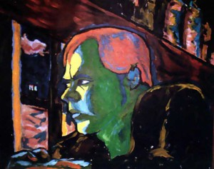 David-Bowie-peintureI-am-a-World-Champion-1977