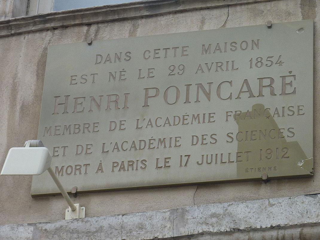 Henri_Poincaré_maison_natale_Nancy_plaque-10