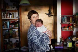 Une maman et son nouveau-né