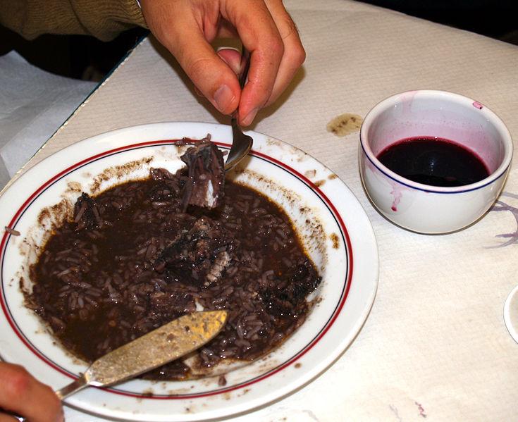 lamproie à manger avec du vin