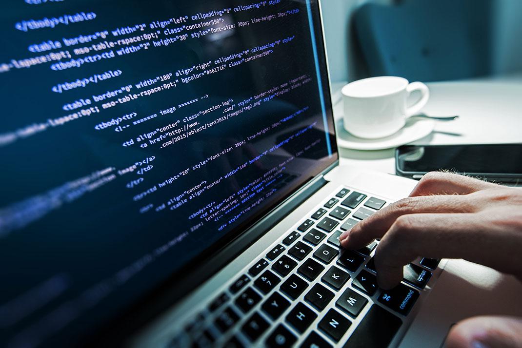 Un ordinateur sur Shutterstock
