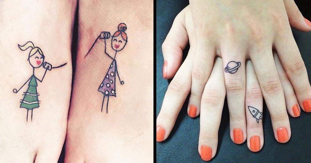 63 tatouages originaux partagés entre soeurs qui symbolisent l\u0027amour  indéfectible qui les unit