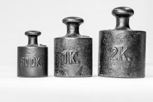 Des poids de calibrage qui font 3 ,5 kg via Shutterstock