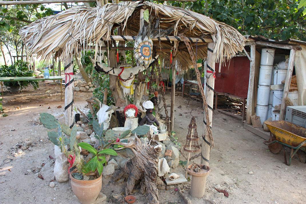 Un autel dédié à la Santeria