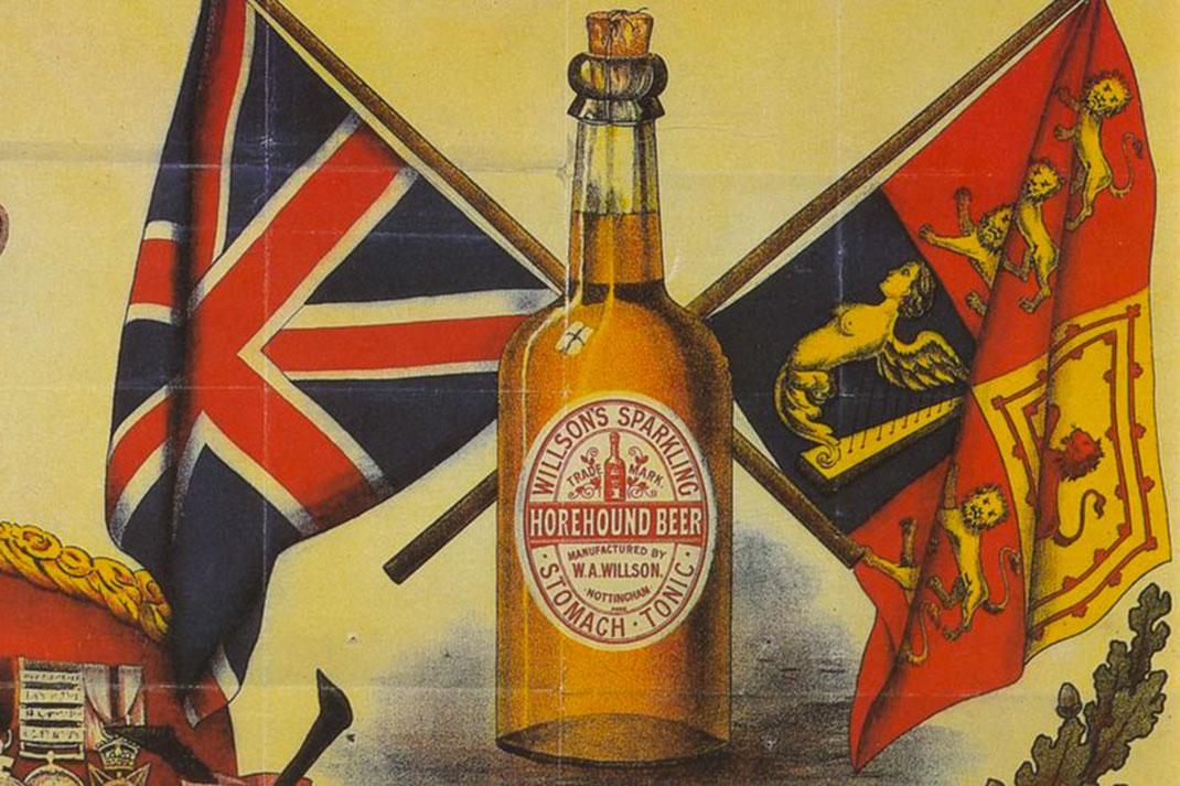 Dessin de 1849 d'une bouteille de bière à bouchon