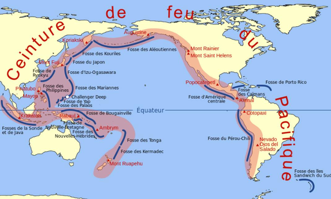 La ceinture de feu du Pacifique