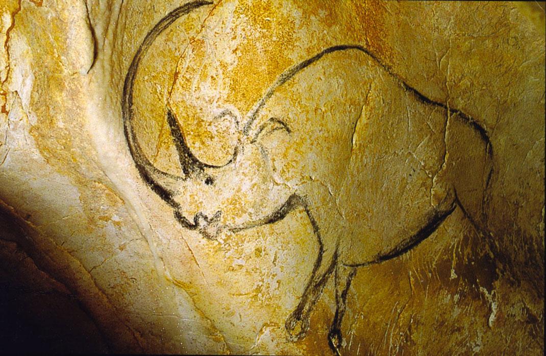 Une peinture rupestre de la grotte de Chauvet