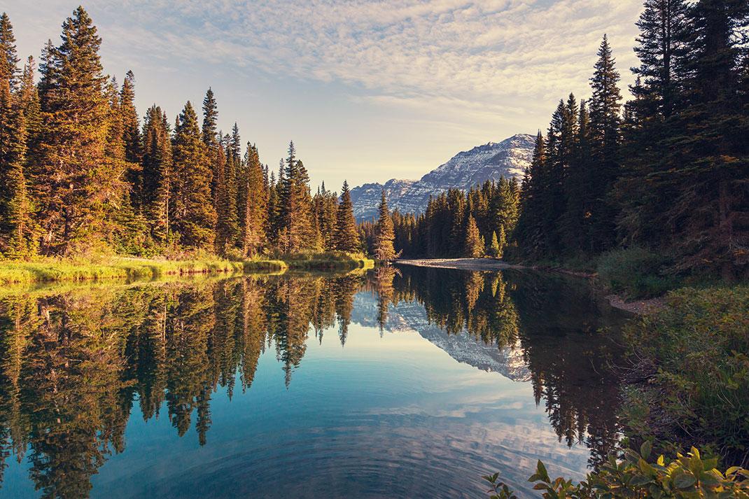 Glacier dans le Montana, États-Unis via Shutterstock