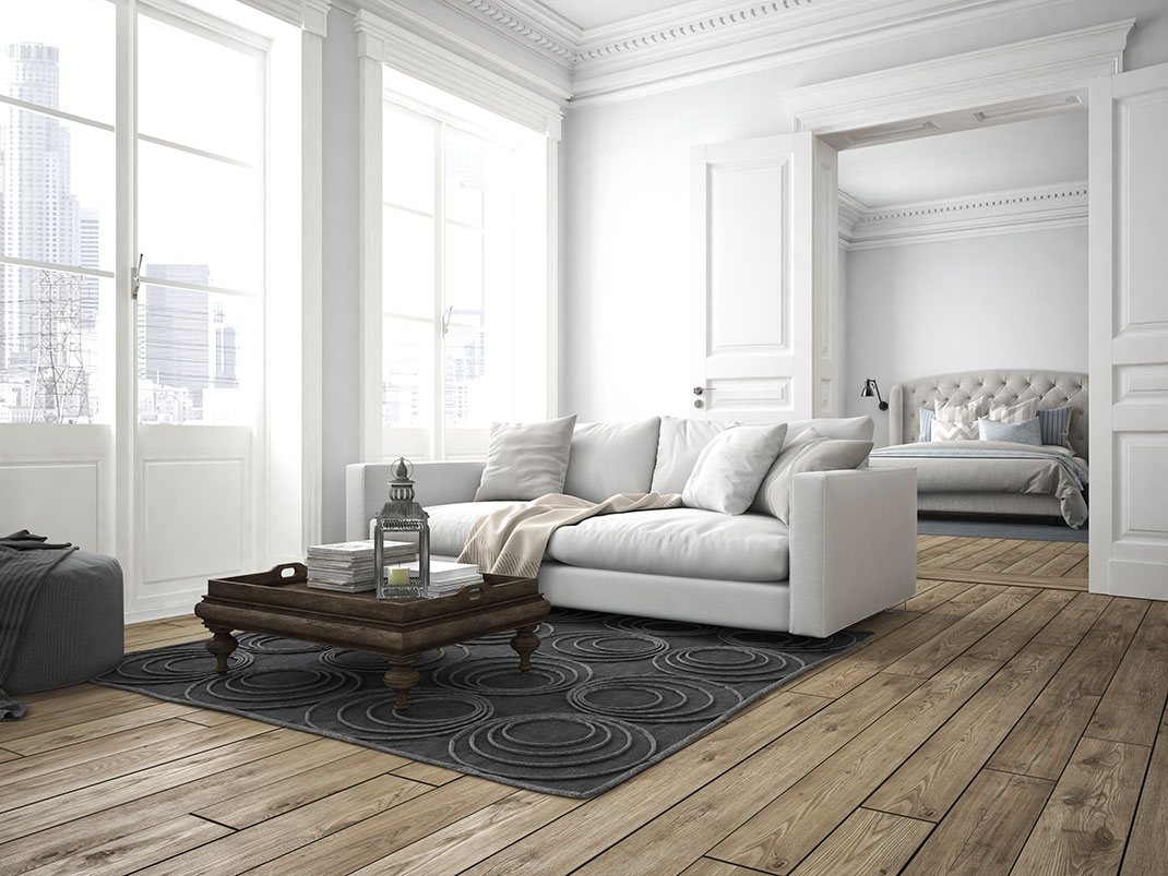 Des pièces d'un appartement via Shutterstock