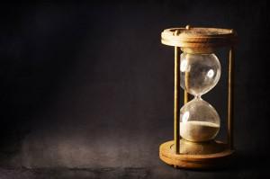 Un sablier via Shutterstock