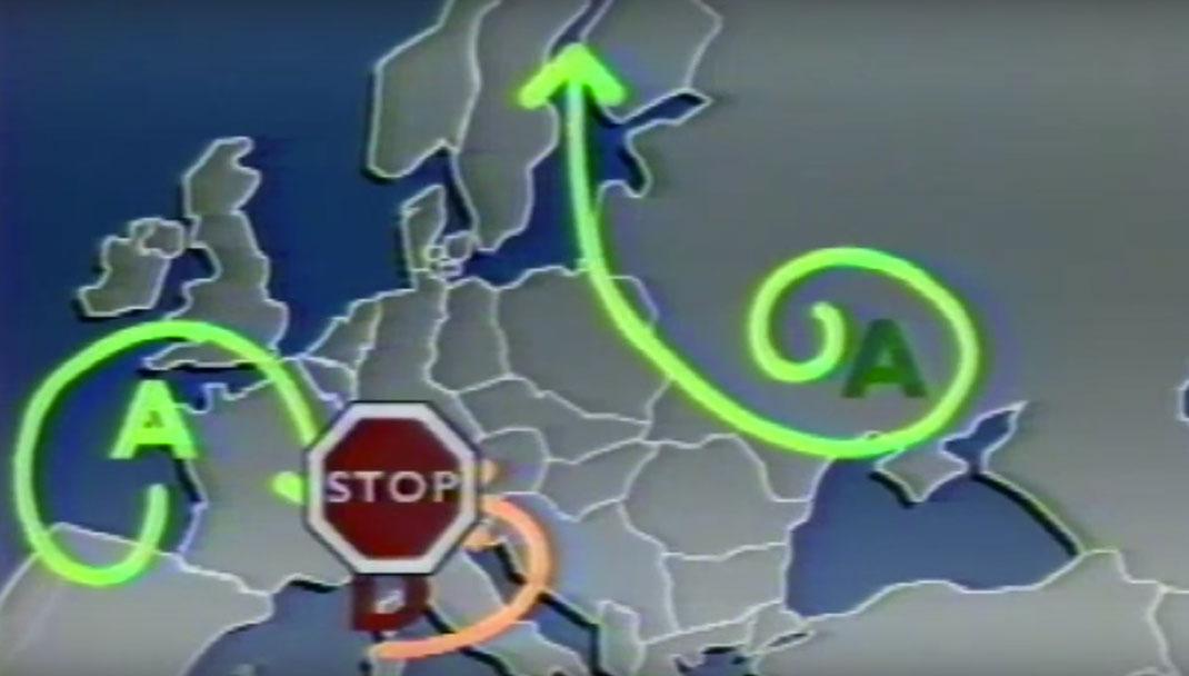 La carte de la France dans le journal d'Antenne 2 le 2 mai 1986