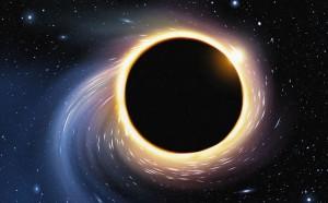 Un trou noir via Shutterstock