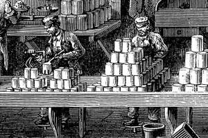 Usine de boite de conserve en 1870