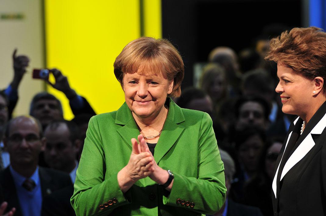 La chancelière allemande Angela Merkel en 2012