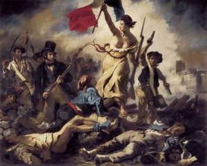 La liberté guidant le peuple d'Eugène Lacrpoix via Shutterstock