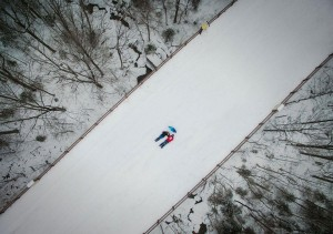 Selfie pris avec un drone, New Hampshire de Manish Mamtani, United States