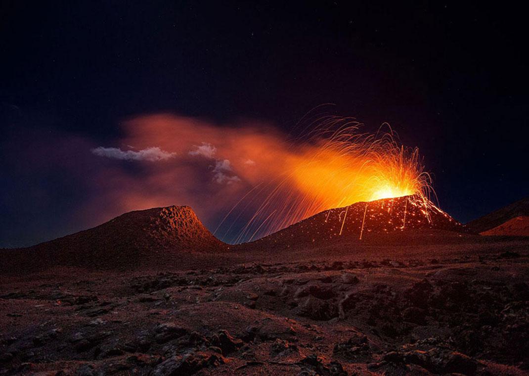 Le volcan de la réunion de Gaby Barathieu, île de la Réunion
