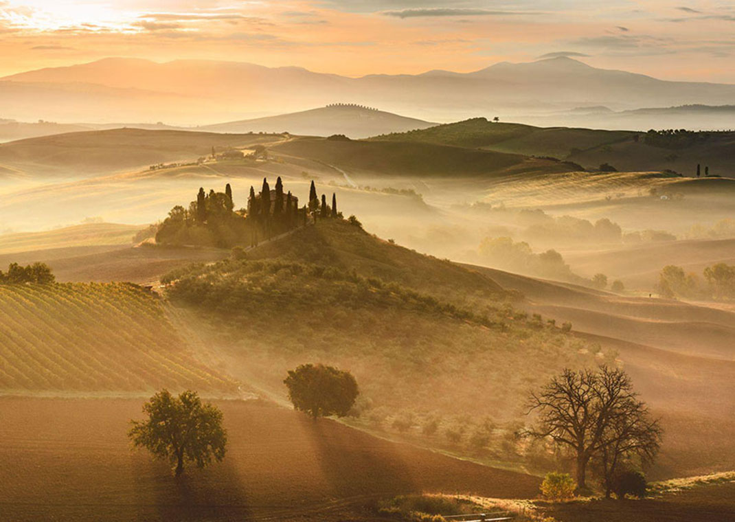 Aurore doré de Giovanni Modesti, Tuscane, Italie