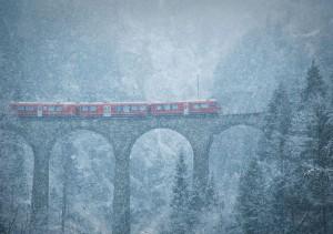 Blizzard dans les montagnes de Julia Wimmerlin, Suisse