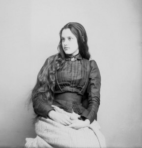 Marcia Pascal, une demi-cherokee, fille du l'officier de l'armée George W. Paschal (1880)