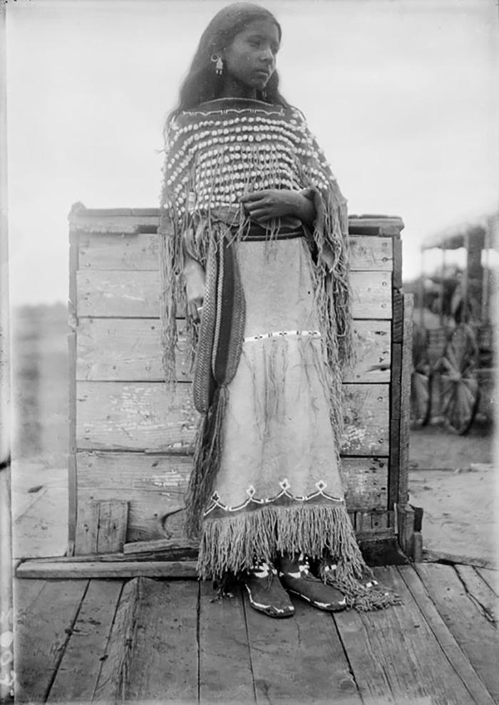 Une fille des Kiowa en 1892