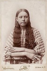 Une jeune fille Comanche en 1885