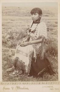 Une fille Kiowa en 1890