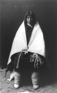 Une fille Hopi le jour de son mariage en 1900