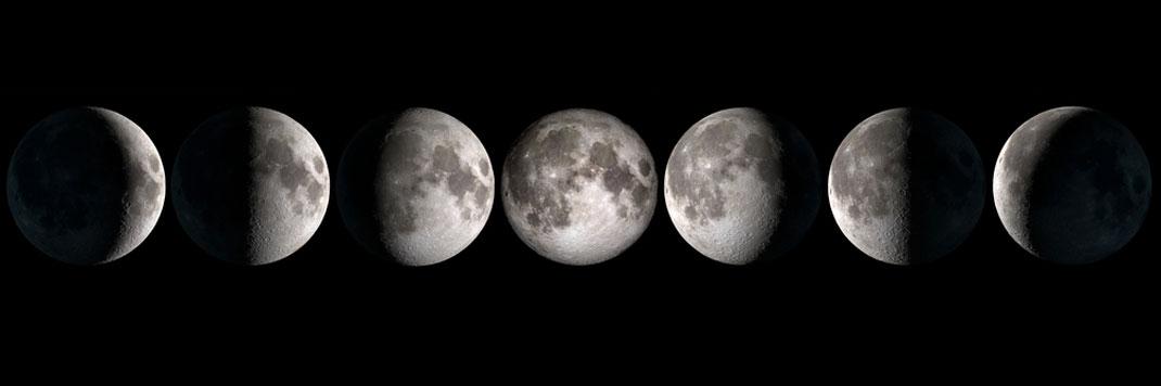 Les différentes phases de la lune via Shutterstock