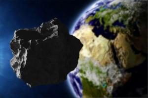 Vue d'artiste d'un astéroïde orbitant autour de la Terre via Shutterstock