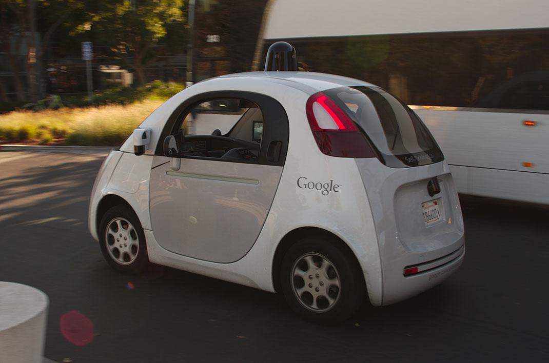 Une des voitures autonome de Google