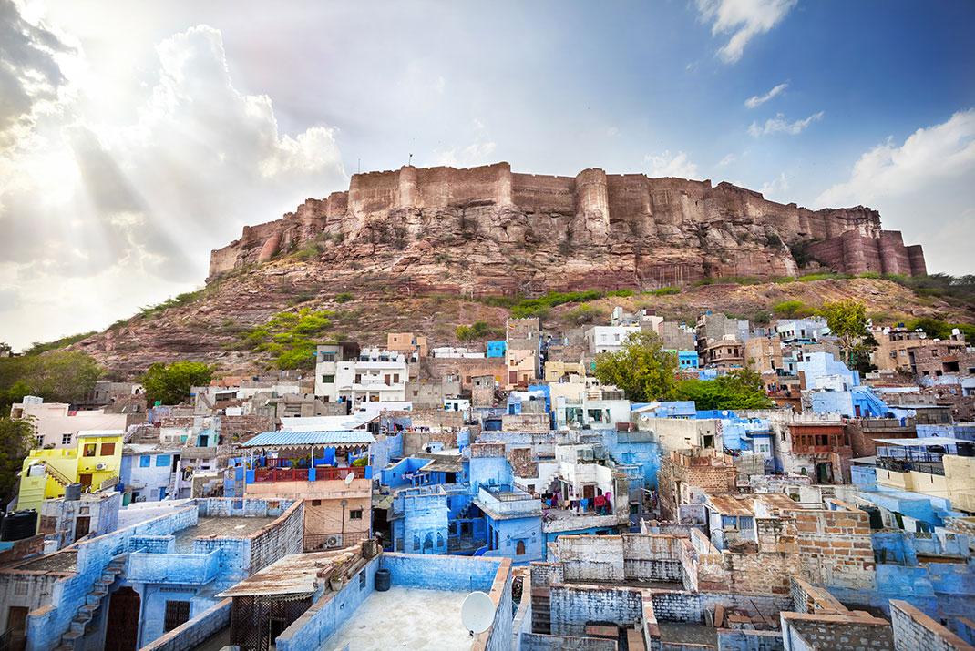 Jodhpur et le Fort de Mehrangarh via Shutterstock