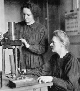 Marie Curie et sa fille Irène