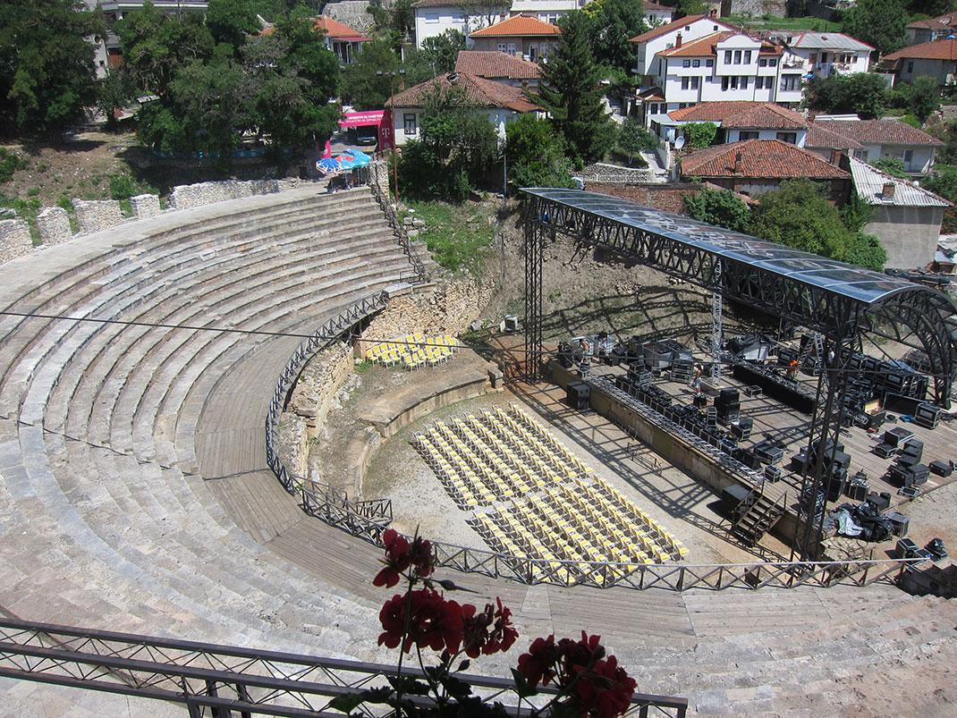 Le théâtre antique d'Ohrid