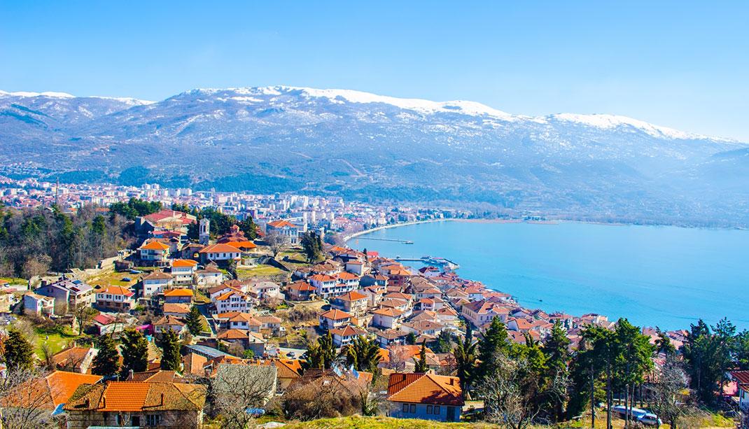 La ville d'Ohrid en Macédoine via Shutterstock
