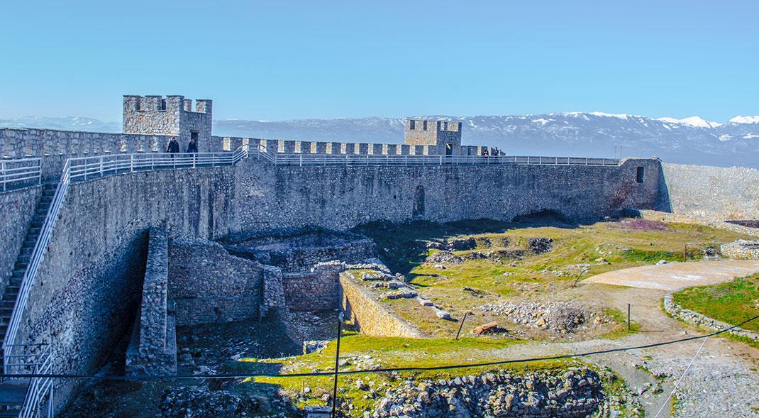 La forteresse de Samuel à Ohrid via Shutterstock
