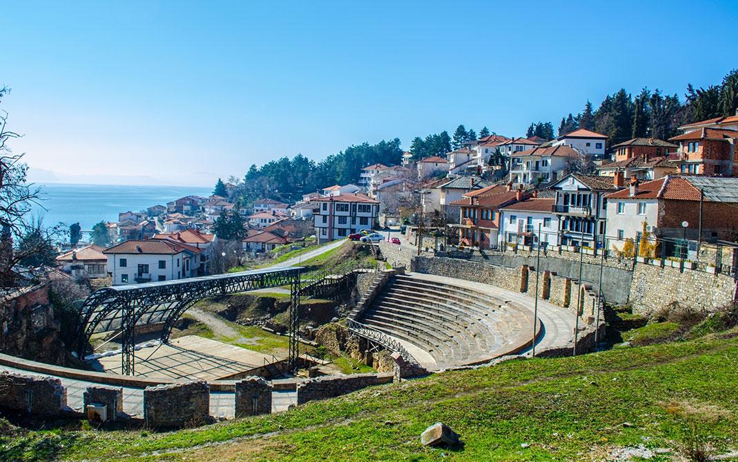 Le théâtre antique d'Ohrid via Shutterstock