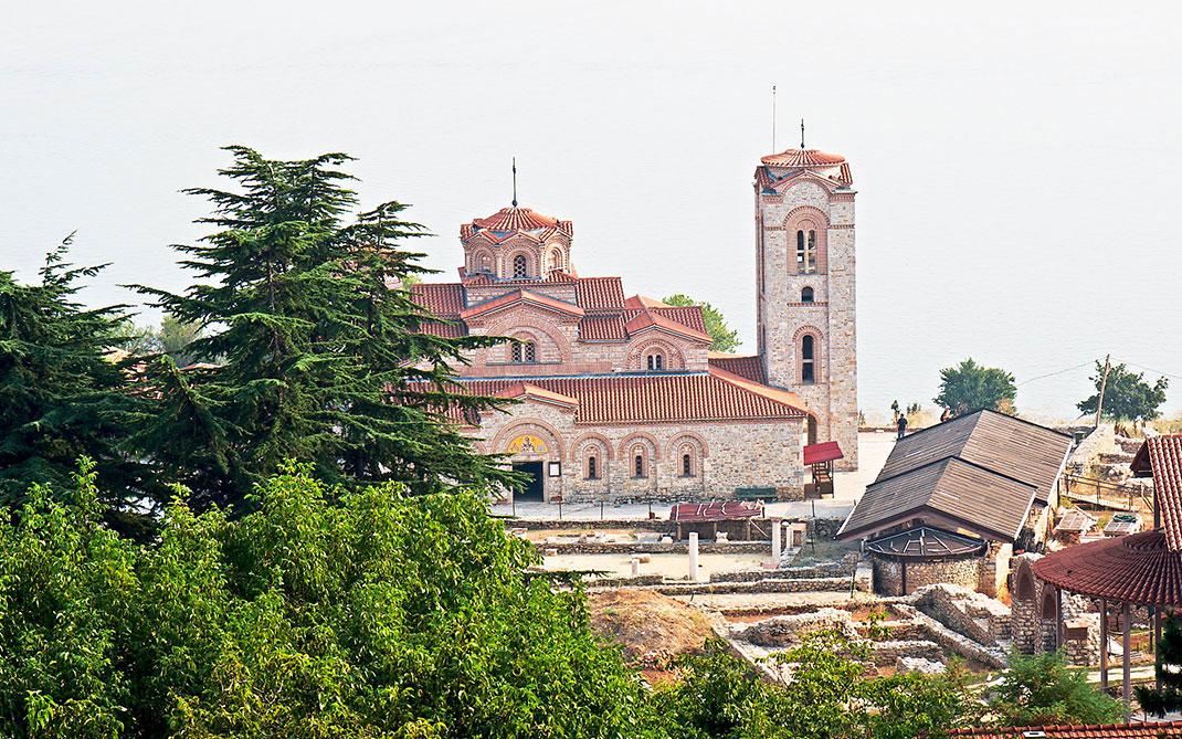 Le monastère Saint-Pantaleimon à Ohrid