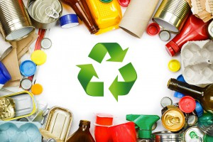 Des matériaux recyclés via Shutterstock