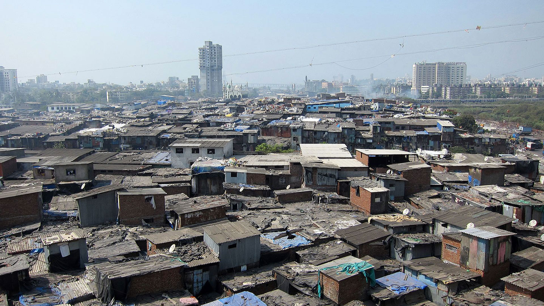 Un bidonville en Inde via Wikipédia