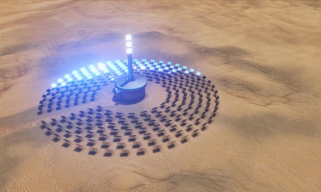 Énergie solaire à Dubaï via Shutterstock