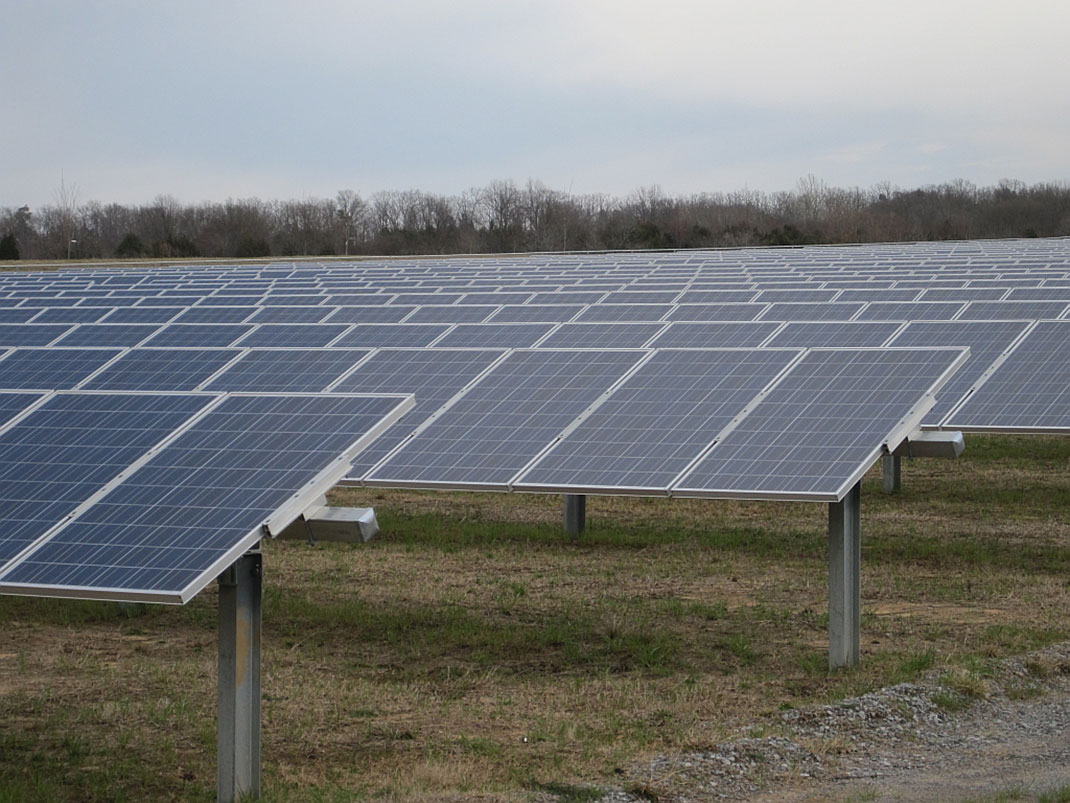 Une ferme solaire